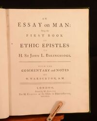 1743 2vols In 1 Essay On Man And Essay On Criticism Alexander Pope Very Scarce