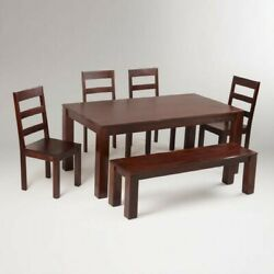 World Market Napa Dining Table Set Includes Six Tier Cookware Stand 7 Items