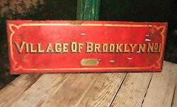 1880s VILLAGE of BROOKLYN NO 1 Dept FIRE EXTINGUISHER MFG CO Chemical Wagon Door