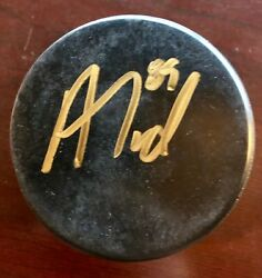 Signed Alex Tuch Autographed Vegas Golden Knights Practice Puck