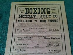 ORIGINAL  1940s   6  BOUT  BOXING  POSTER  24