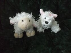 Ganz Lil Kinz White Terrier HS106 and Lamb HS201 no codes