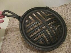 Cast Iron Round Broiler Skillet Wood Burning Cook Top Stove Oven Griswold Style