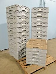 Lot Of 28 Cambro Hd Commercial Nsf Assorted Glass And Cups Dishwasher Racks