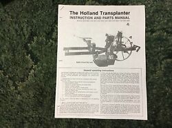 A New Parts Catalog For A 900, 1100, 1301, 1302 Holland Transplanter Setters
