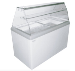 New 9 Pan Gelato Dipping Cabinet Display Freezer Excellence Hbg-9hc 9680 Curved