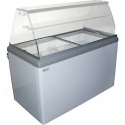 New 10 Pan Gelato Dipping Cabinet Curved Glass Display Freezer Excellence Hbg-10