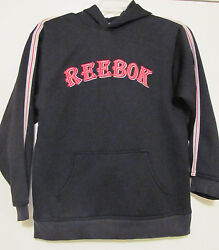 Youth Hooded Black Reebok Sweatshirt Size Large (1416) with Front Hand Pocket $15.99