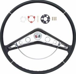 Oer 17 Steering Wheel With Horn Ring And Emblem 1959-1960 Chevy Impala