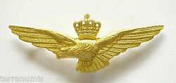 H129 Italy Wwi Pilot Wing Airplane Military Air Force Rare Gilt Badge