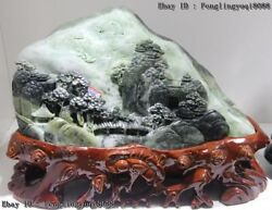 11 Chinese Art Sculpture Natural Dushan Jade Remote Mountains To Visit A Friend