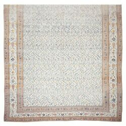Antique 15X24 Cotton Agra Rug Oversized Hand-Knotted Carpet c. 1890 (14.9 x 23.6