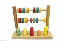 Vintage Early Jaymar Tiny Tot Toys Pull Toy Ring Tower And Abacus