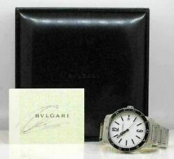 Exceptional Menand039s Stainless Steel Bvlgari Automatic Watch Fits 7.75 Wrist W42