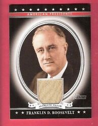 President Franklin D. Roosevelt Used Pillow Relic Card 2009 Topps Heritage Usa