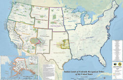 Indian Lands Of Federally Recognized Tribes Of The Us Map Native American Nation