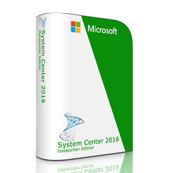 Microsoft System Center 2016 V1801 Datacenter Edition With Full Retail License