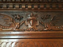 Magnificent Carved Bedroom Set: Bed Dresser Armoire 2 Nt Tables Circa 1890