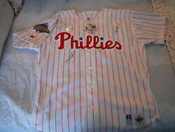 Philadelphia Phillies 1993 World Series Jersey 48 Nwt C.o.a. Not A Reproduction