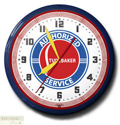 Studebaker Authorized Service Neon 20 Clock Made In Usa - 1 Year Warranty New