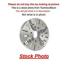 Bison 7-855-2000 20 4-jaw Independent Manual Lathe Chuck W/ Plain Back Mount
