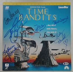 Time Bandits Cast Hand Signed Laserdisc Sean Connery Cleese Duvall Beckett