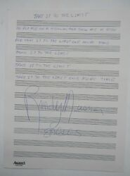 The Eagles Band Signed Extremely Rare Handwritten Lyrics Randy Meisner Tittl See