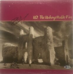 Autographed U2 The Unforgettable Fire Vinyl Signed By Edge Certified By Beckett