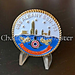 C47 Uss Albany Ssn 753 Chief Of The Boat Cob Challenge Coin