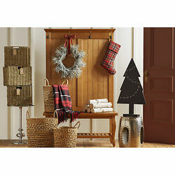 Full Hall Tree Bench Indoor Home Living Room Decor Furniture Entryway Holidays