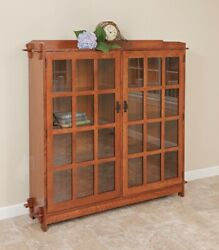 Mission Arts And Crafts   Stickley Style   Double Bookcase   Made To Order