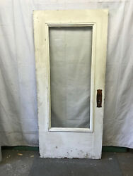 Full Glass Salvaged Exterior Wood Door Beveled Glass Architectural 36x80