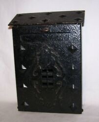 Arts And Crafts Movement Misson Style Hammered Cast Iron Mailbox Framed Window