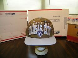 Sporting Kansas City Mls Adidas Camouflage Snapback Cap Hat Embroidered Nwt