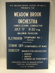 Classical Music James Levine Meadow Brook Orchestra Michigan Four Concert