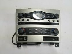 05-13 OEM INFINITI G35 G37 RADIO CD HEATER AND CLIMATE CONTROL PANEL 25810JK60A