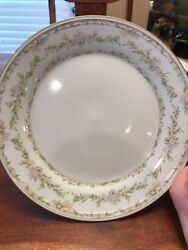 """Charlotte Hutschenreuther 10.5"""" White Dinner Plate Germany Floral Q"""