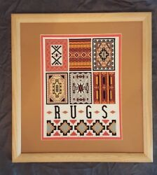 Needlepoint Picture - Rugs - Natural Frame - Light Brown Mat