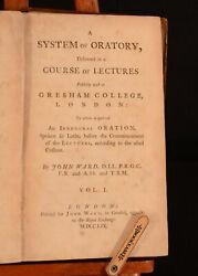 1759 2vol A System Of Oratory Delivered In A Course Of Lectures John Ward 1st Ed
