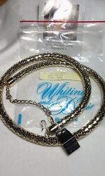 Vintage Whiting And Davis Gold Mesh Coiled Necklace / Belt Nwt And Bag-beautiful