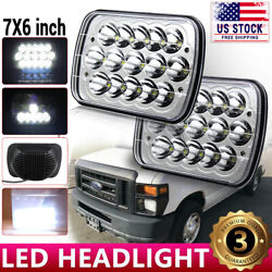 2pcs 7x6 5x7and039and039 Led Headlight For Ford E-150 E-350 F-250 Super Duty Ranger Gt