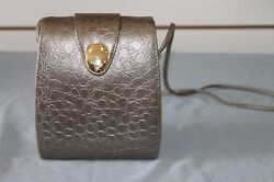 True Vintage Square Accordion Silver Evening Bag with Gold Hardware Barely Used $30.00