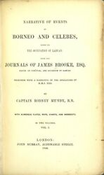 Rodney Mundy / Narrative Of Events In Borneo And Celebes Down 1st Ed 1848 Travel