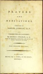 Prayers And Meditations Composed By Samuel Johnson Ll.d And Published From His