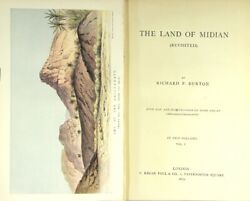 Richard F Burton / The Land Of Midian Revisited First Edition 1879 Travel