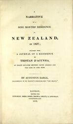 Augustus Earle / Narrative Of Nine Monthsand039 Residence In New Zealand In 1827 1st