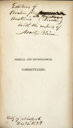 Martyn Paine / Medical And Physiological Commentaries First Edition 1840 Science