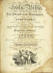 Holy Bible Containing The Old And New Testaments Together With The Apocrypha