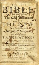 Holy Bible Containing The Old Testament And The New Newly Translated Out 1726