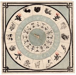 Three Hand-made Game Boards On Paper With Game Pieces And A Volvelle / 1840 Asia